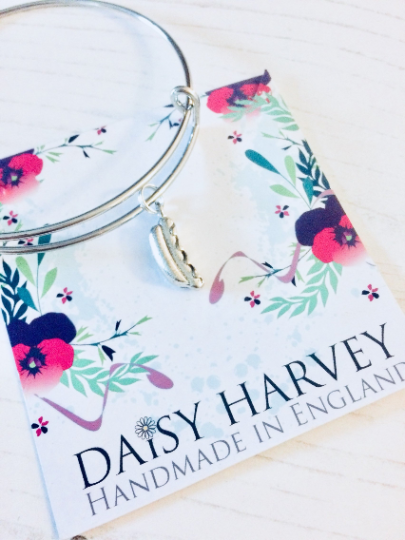 hot dog charm bracelet by Daisy Harvey Designs
