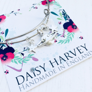 planet charm bracelet by Daisy Harvey Designs