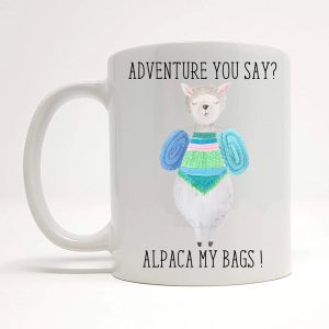 alpaca my bags mug by Beautifully Obscene
