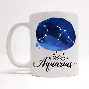 aquarius coffee mug by Beautifully Obscene