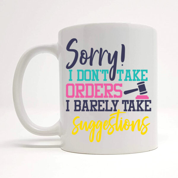 barely take suggestions mug By Beautifully Obscene