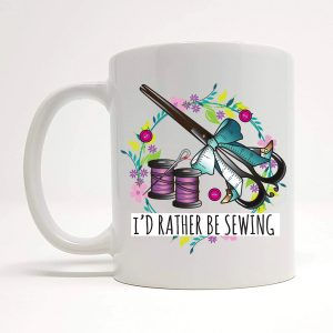 rather be sewing mug by Beautifully Obscene