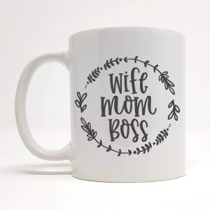 wife mom boss mug by Beautifully Obscene