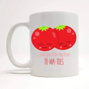cute tomato mug by Beautifully Obscene