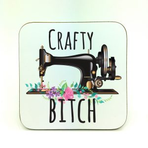 crafty bitch coaster