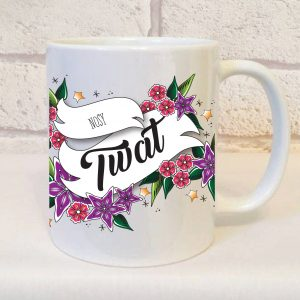 nosy twat mug by Beautifully Obscene