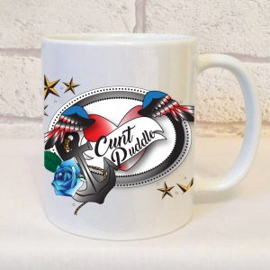 cunt puddle swear word mug by Beautifully Obscene