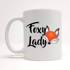 foxy lady mug by Beautifully Obscene