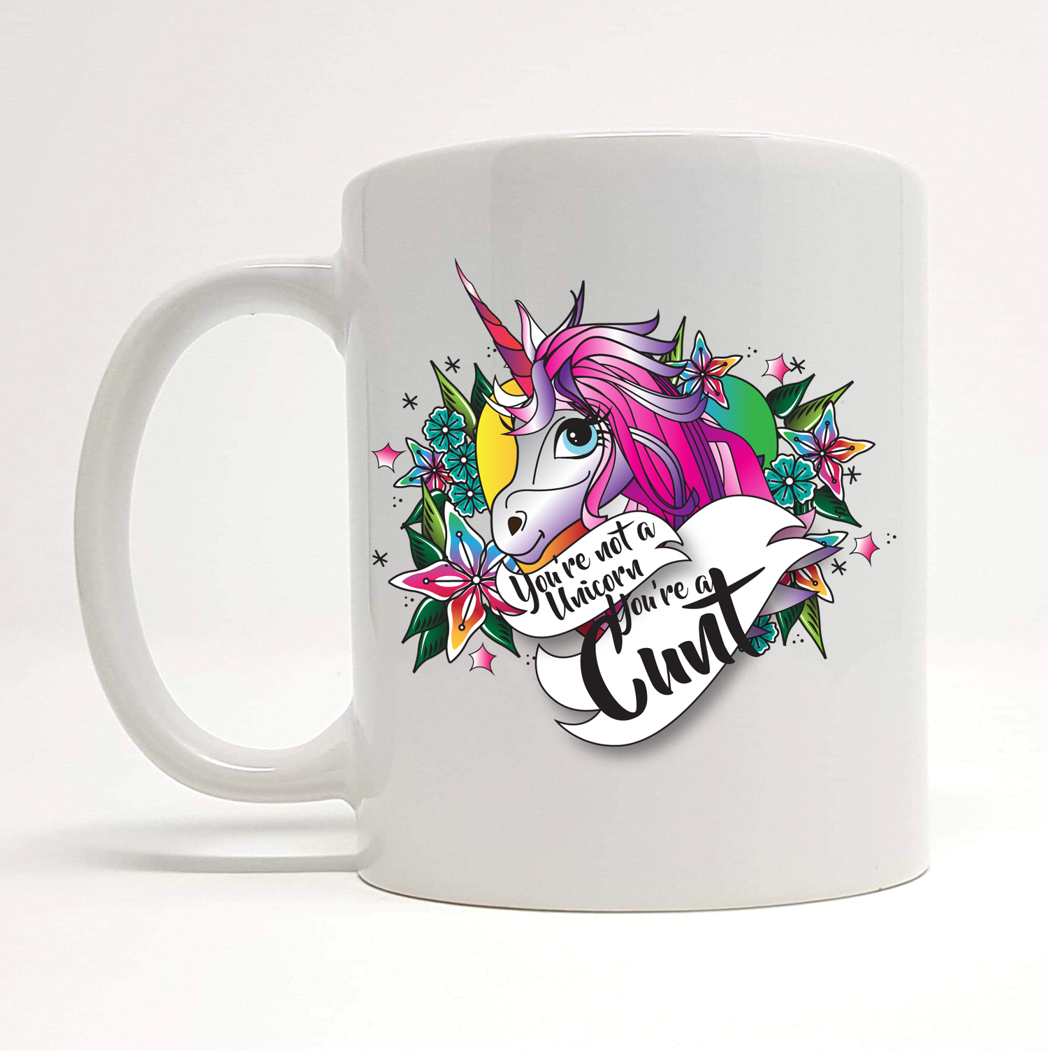 not a unicorn mug by Beautifully Obscene