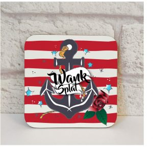 wank splat coaster by Beautifully Obscene