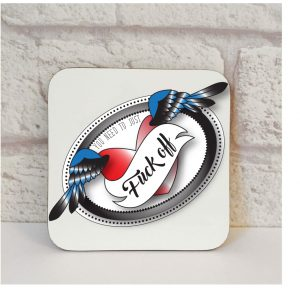 fuck off coaster gifts by Beautifully Obscene