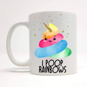 poop rainbows mug by Beautifully Obscene