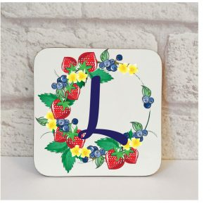 Initial L Name Coaster By Beautifully Obscene