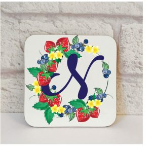 Initial N Name Coaster By Beautifully Obscene