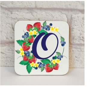 Initial O Name Coaster By Beautifully Obscene