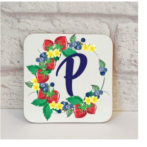 Initial P Name Coaster By Beautifully Obscene