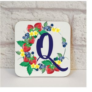 Initial Q Name Coaster By Beautifully Obscene