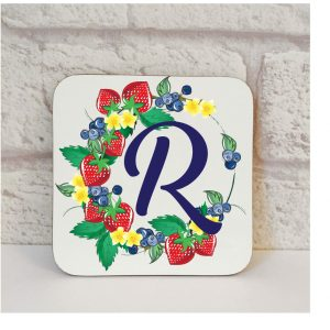 Initial R Name Coaster By Beautifully Obscene