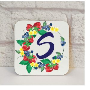Initial S Name Coaster By Beautifully Obscene