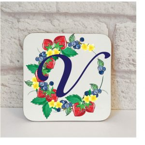 Initial V Name Coaster By Beautifully Obscene