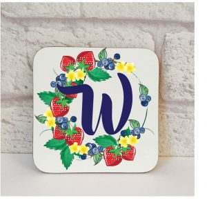 Initial W Name Coaster By Beautifully Obscene