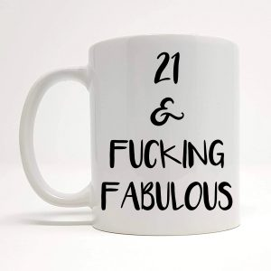 21st birthday novelty mug by Beautifully Obscene