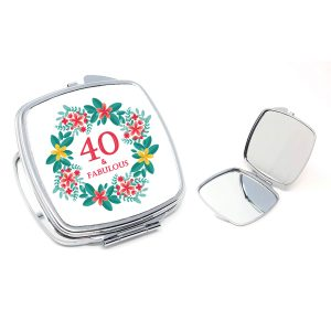 40th compact mirror gift by Beautifully Obscene