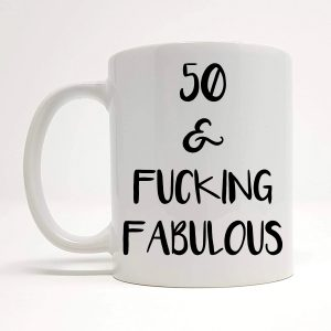 50th funny ceramic mug by Beautifully Obscene