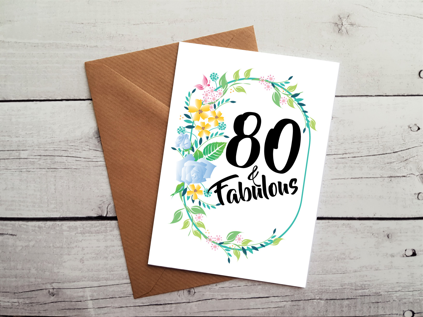 Handmade 80th birthday card 80 fabulous occasion card handmade 80th birthday card by beautifully twee bookmarktalkfo Image collections