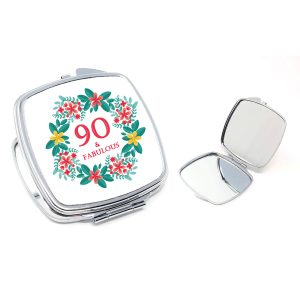 90th birthday compact mirror by Beautifully Obscene