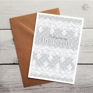will you bridesmaid card by Beautifully Obscene