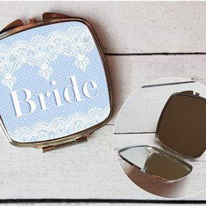 bride compact mirror by Beautifully Twee