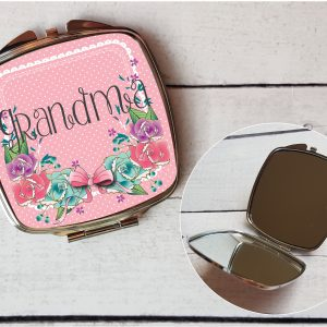personalised pocket mirror grandma by Beautifully Twee