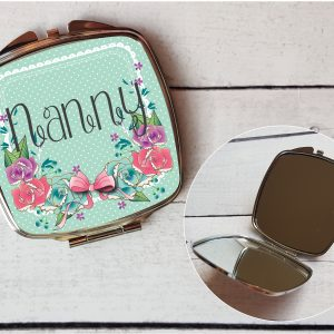 Personalised Hand Mirror Nanny By Beautifully Twee