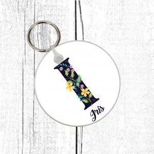name initial keyring by Beautifully Obscene
