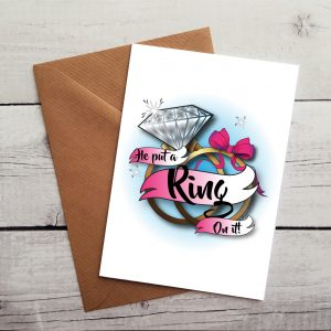 handmade engagement card by Beautifully Obscene