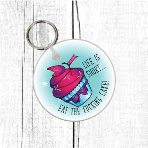 cake lovers keyring by Beautifully Obscene