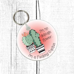 funny cactus lovers keyring by Beautifully Obscene