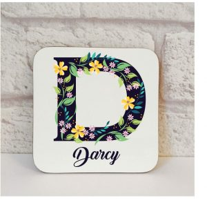 initial drinks coaster by Beautifully Obscene