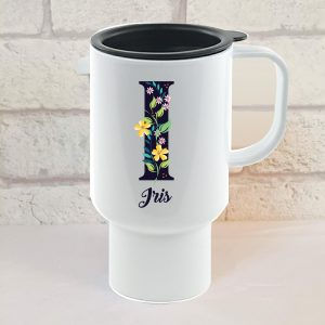 initial travel mug by Beautifully Obscene