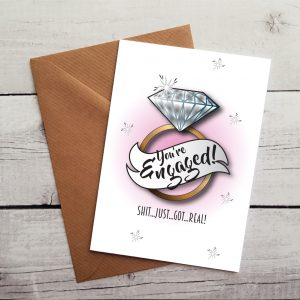 funny engagement card by Beautifully Obscene