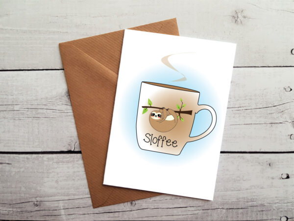 coffee lovers greetings card by Beautifully Obscene