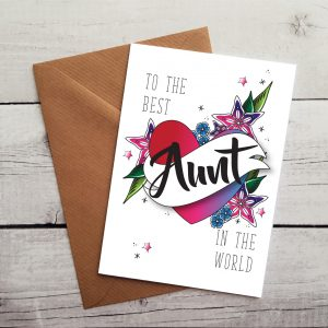 best aunt occasion card by Beautifully Obscene