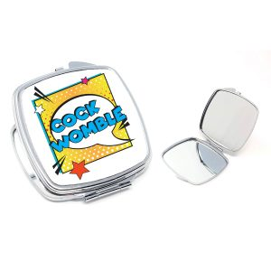cockwomble compact mirror By Beautifully Obscene