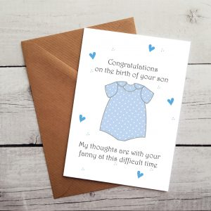 funny baby boy congratulations card by Beautifully Obscene