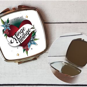 funny ladies compact mirror gift By Beautifully Obscene