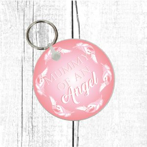 daddy of an angel keyring by Beautifully Obscene