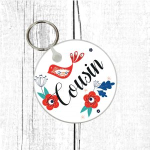 cousin keyring by Beautifully Obscene
