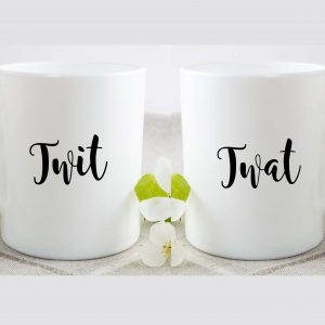 twit twat mug set by Beautifully Obscene