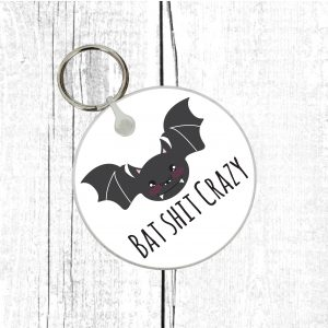 bat shit crazy keyring by Beautifully Obscene